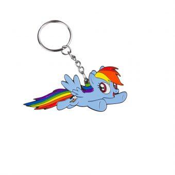My Little Pony metal keychain - Rainbow Dash