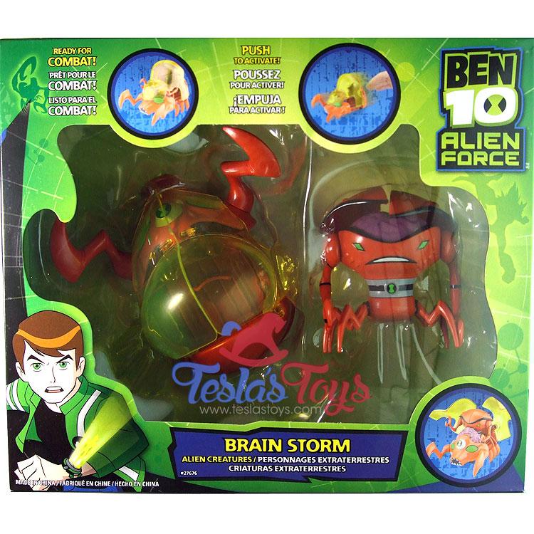 ben 10 alien force alien creatures brainstorm teslas toys