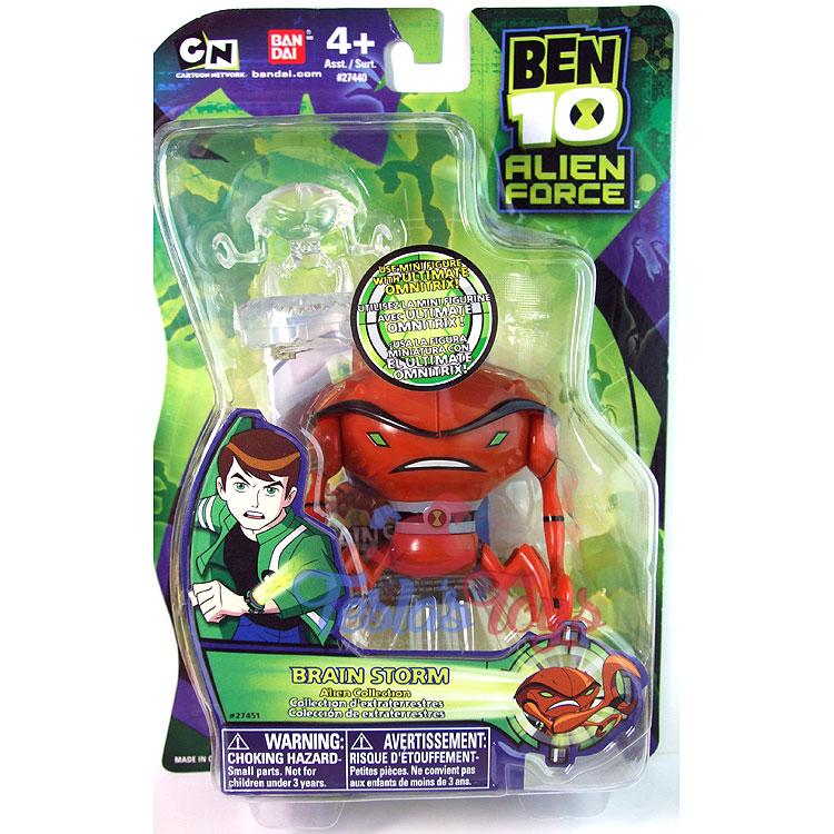 ben 10 alien force action figure brainstorm teslas toys