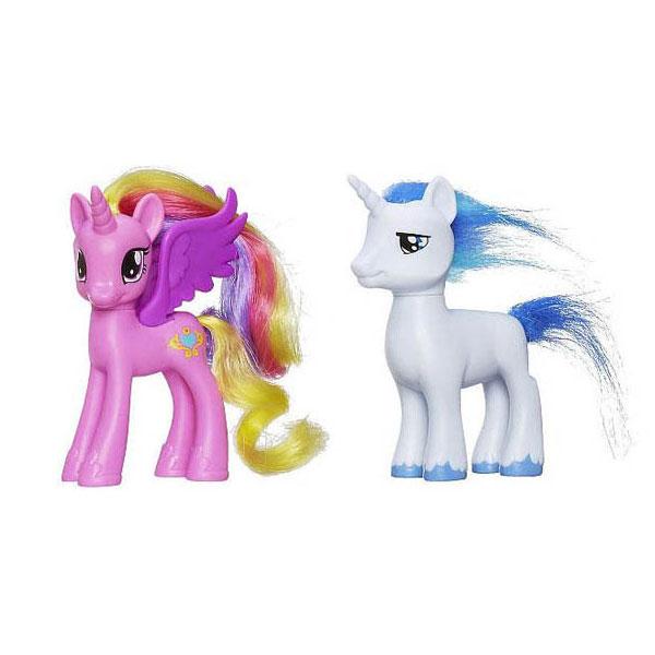 my little pony figure shining armor and princess cadance set