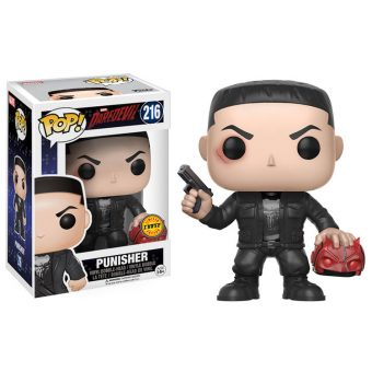 Daredevil Netflix TV Series Funko POP! Vinyl Chase exclusive - Punisher holding Daredevil's Mask