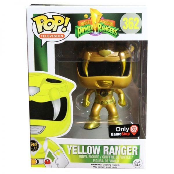 Power Rangers Funko POP! Vinyl Gamestop Exclusive - Yellow Ranger (Gold Edition)