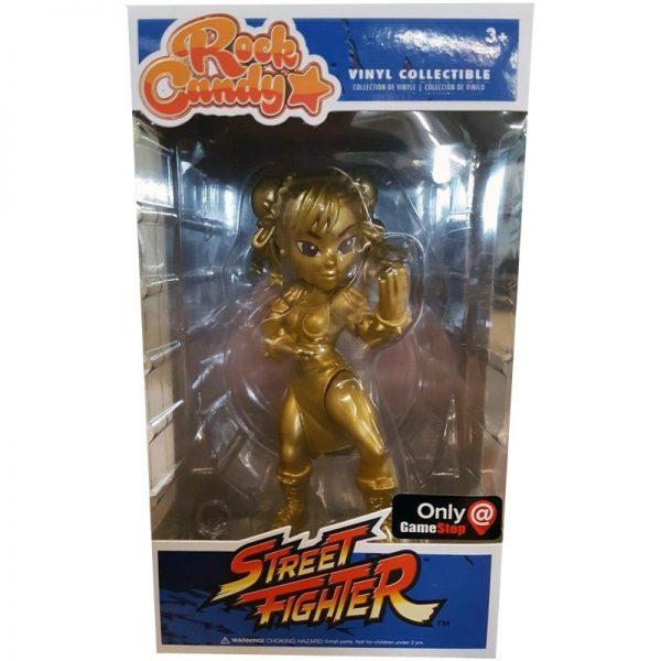 Street Fighter Rock Candy Gamestop Exclusive - Chun-Li (Gold Variant)