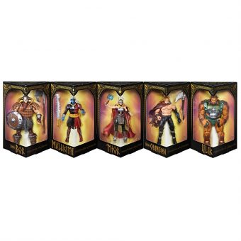 SDCC 2017 Exclusive Marvel Legends Series Battle for Asgard 5-Pack (Jane Foster Thor, Malekith, Ulik, Odinson, Bor)