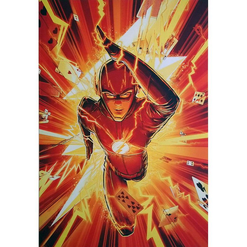 Sdcc 2017 Dc Comics Booth Exclusive Poster Flash Tesla