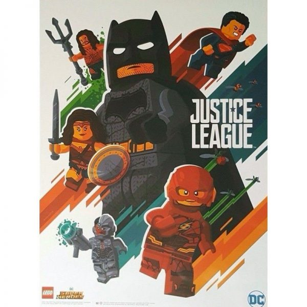 SDCC 2017 Lego Booth Exclusive Poster - Justice League Movie