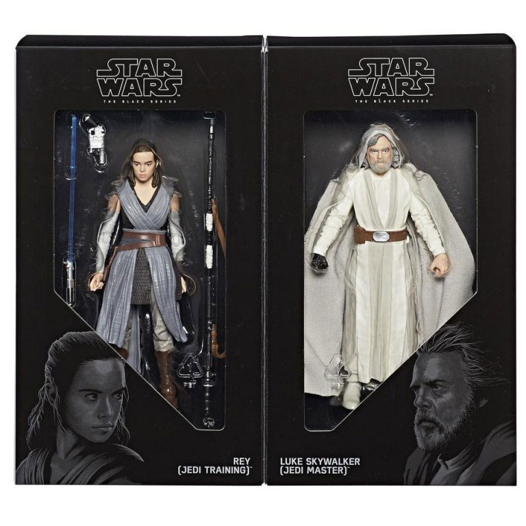 SDCC 2017 Exclusive Hasbro Star Wars The Black Series 6-Inch Luke Skywalker (Jedi Master) and Rey (Jedi Training) 2-pack