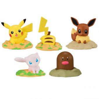 Bandai Pokemon Ana wo Horu Popping Out Mascot Mini Figure Collection