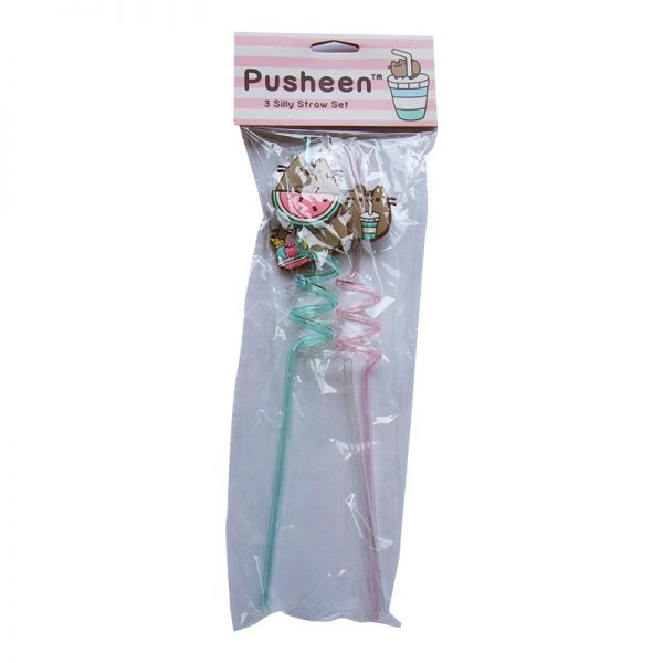 Pusheen Box Exclusive Silly Straw Set - 3 Crazy Straws