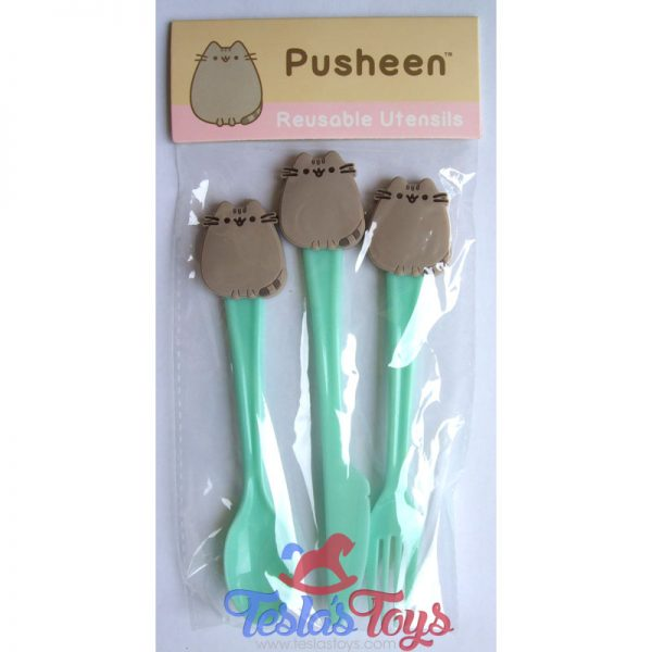 Pusheen Box Exclusive Reusable Utensils - Set of Fork, Knife & Spoon