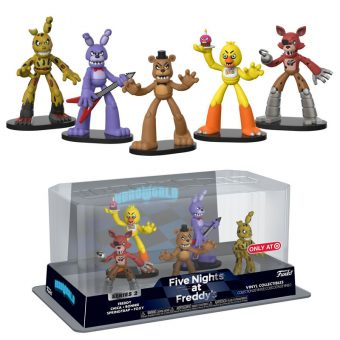Five Nights at Freddy's HeroWorld Target Exclusive Mini Figure Collection 5 Pack - Freddy, Foxy, Bonnie, Chica & Springtrap