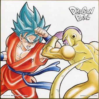 Dragon Ball Super Ichiban Kuji -Saiyan Extreme- Prize F Shikishi Illustration Board - SSGSS Goku VS Golden Frieza