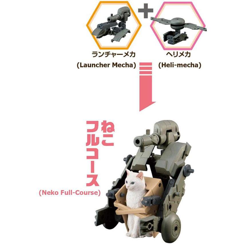 Neko Busou Nami Mori Bandai Fierce War Cats Model Kit Grey Cat In