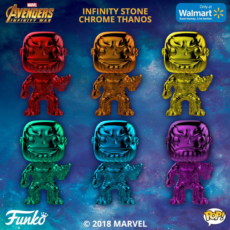 Marvel Funko Pop Excellent Condition Chrome Thanos Set