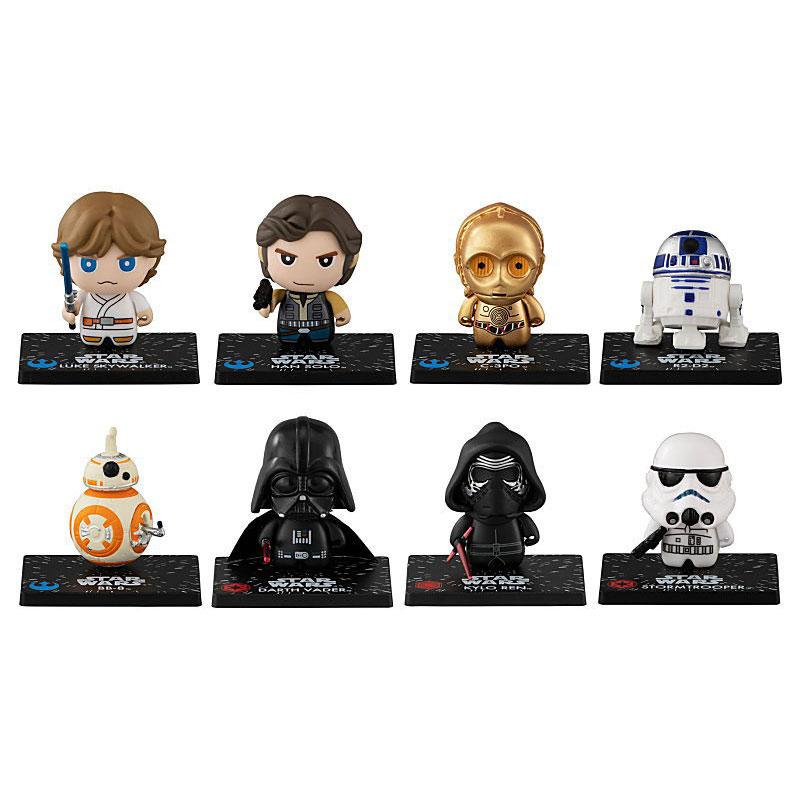 Darth Vader Kylo Ren Boba Fett Star Wars CapChara Mini Figure Collection